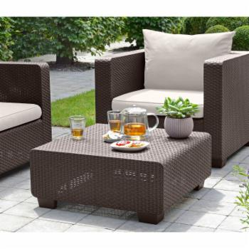 Keter Salta Wicker Patio Coffee Table
