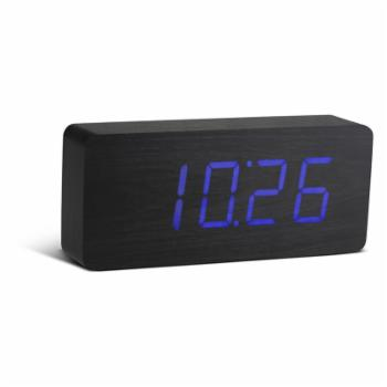 Ginkgo Slab Click Clock With LED Display