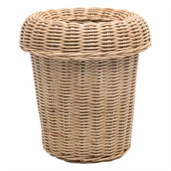 Kouboo LLC Rattan Round Waste Basket with Removable Ring