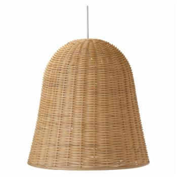 Kouboo LLC 10500 Bell Shaped Wicker Pendant Light