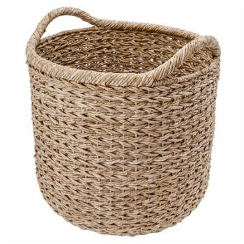 KOUBOO Large Handwoven Decorative Basket with 2 Ear Handles