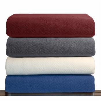 LCM Home Fashions Luxury Cotton Thermal Blanket