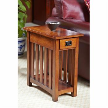 Leick Home Solid Ash Mission Chairside End Table