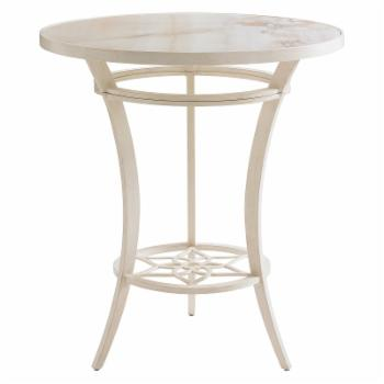 Tommy Bahama Misty Garden High-Low Bistro Table with Porcelain Top