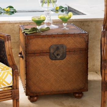 Tommy Bahama Island Estate East Cove Square Wood Trunk