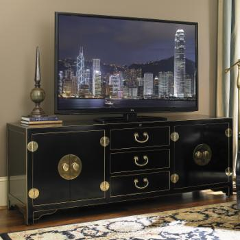 Sligh Studio Designs Pacific Isles 75 in. TV Console - Black