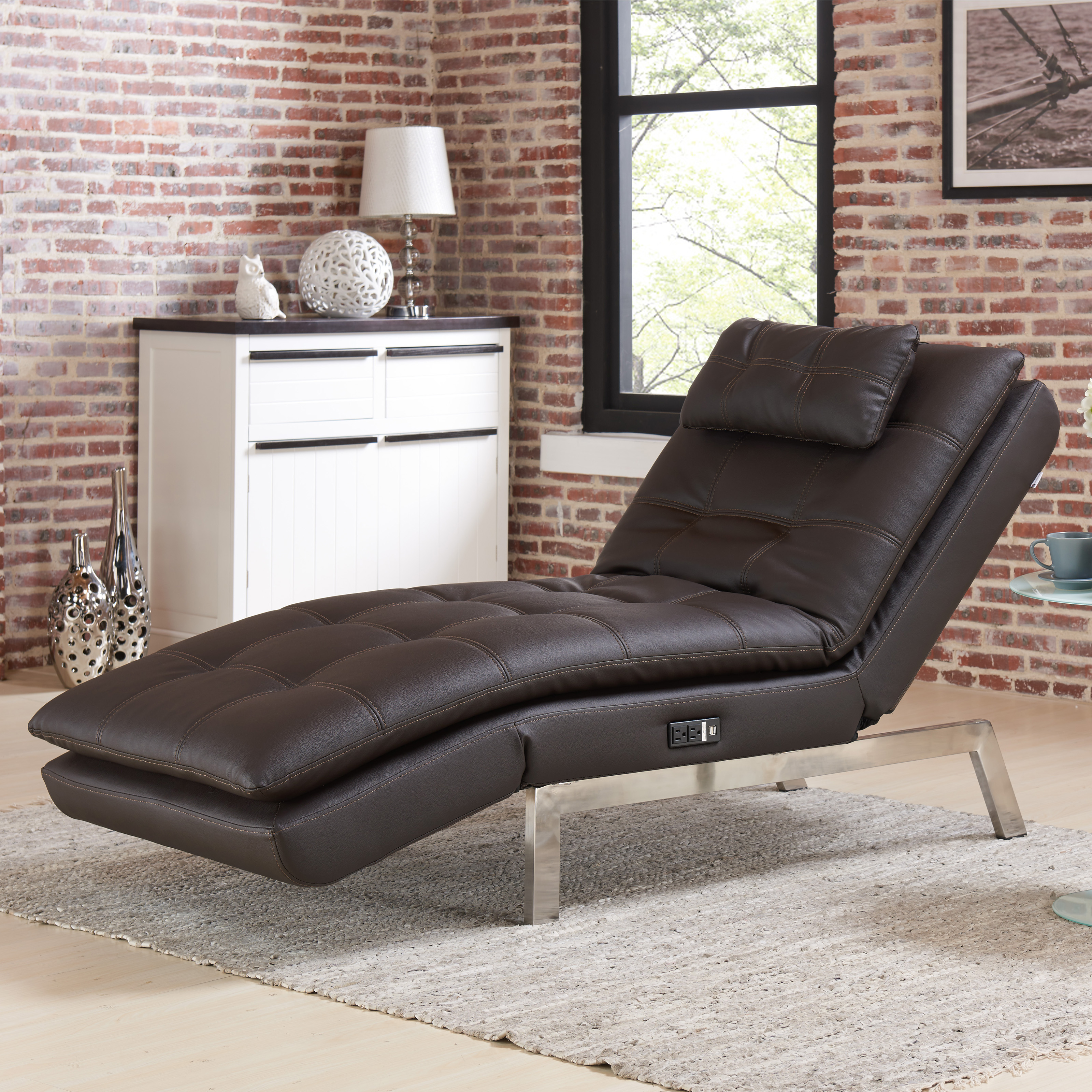 Lifestyle Solutions Arlington Convertible Chaise Lounge