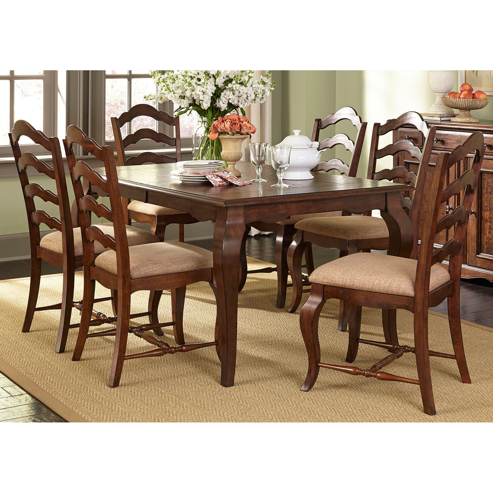 Liberty Furniture Savanna 7-piece Rectangular Dining Table ...