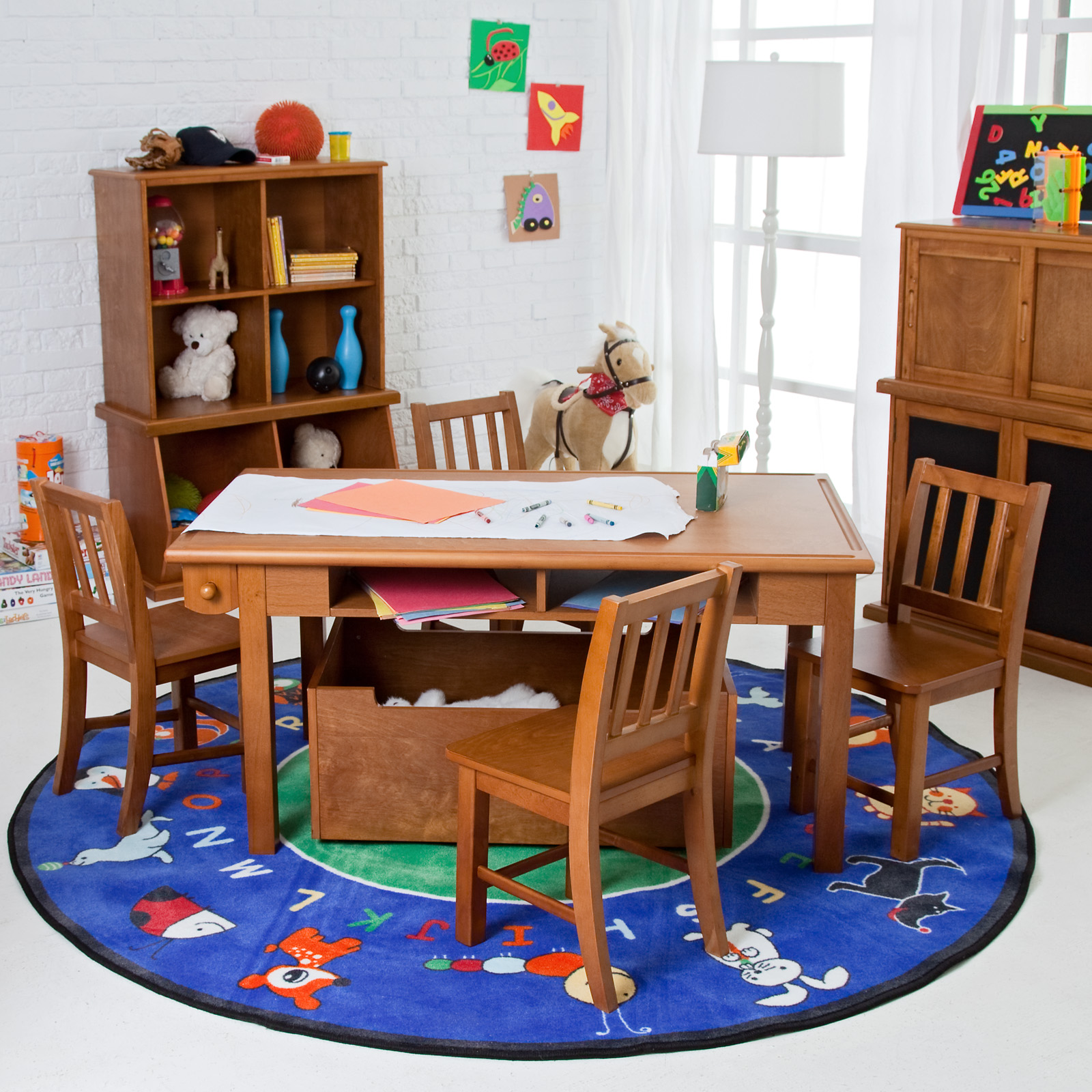 Bon Classic Playtime Vanilla Deluxe Activity Table With Free Paper Roll |  Hayneedle