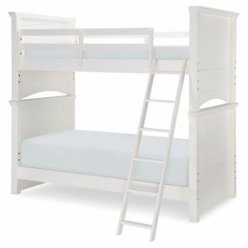 LC Kids Summerset Complete Twin over Twin Bunk Bed - Ivory