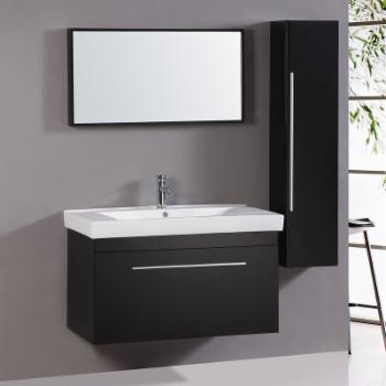 Legion WT9002 Wall Mounted 40 in. Single Vanity with Mirror and Side Cabinet