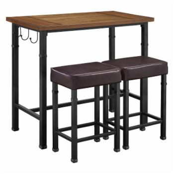 Linon Home Austin 3 Piece Pub Table Set