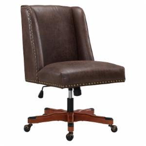 Mid Century Modern Office Chairs With Linon Draper Faux Leather Office Desk Chair Midcentury Modern Chairs Cyber Week 2018 Deals Hayneedle