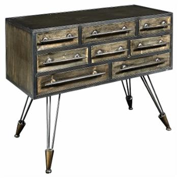 Linon Cady 8 Drawer Console Table