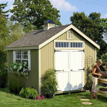 Little Cottage Williamsburg Colonial Panelized Garden Shed with Optional Floor Kit