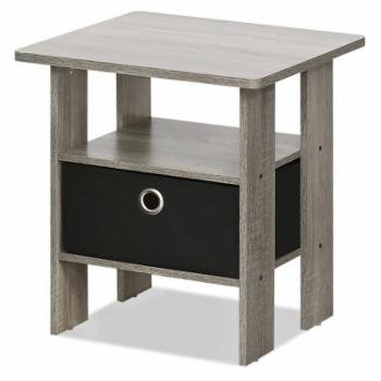 Furinno End Table with Drawer