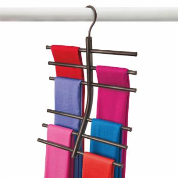 Lynk Hanging Tiered Scarf Closet Organizer Rack