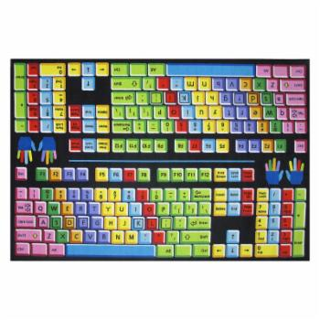Fun Rugs Fun Time FT-100 Keyboard Area Rug - Multicolor