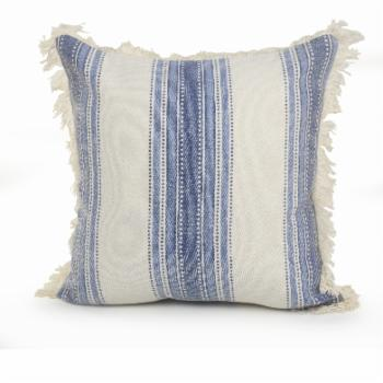 LR Home Coastal Striped Throw Pillow