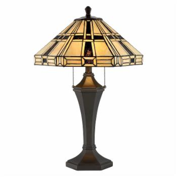 Lite Source Mircea Table Lamp with Tiffany Shade