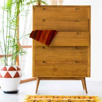 Harmonia Living Fifties 5 Drawer Tower Dresser