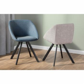 LumiSource Matisse Mid-Century Faux Leather Dining Side Chair - Set of 2