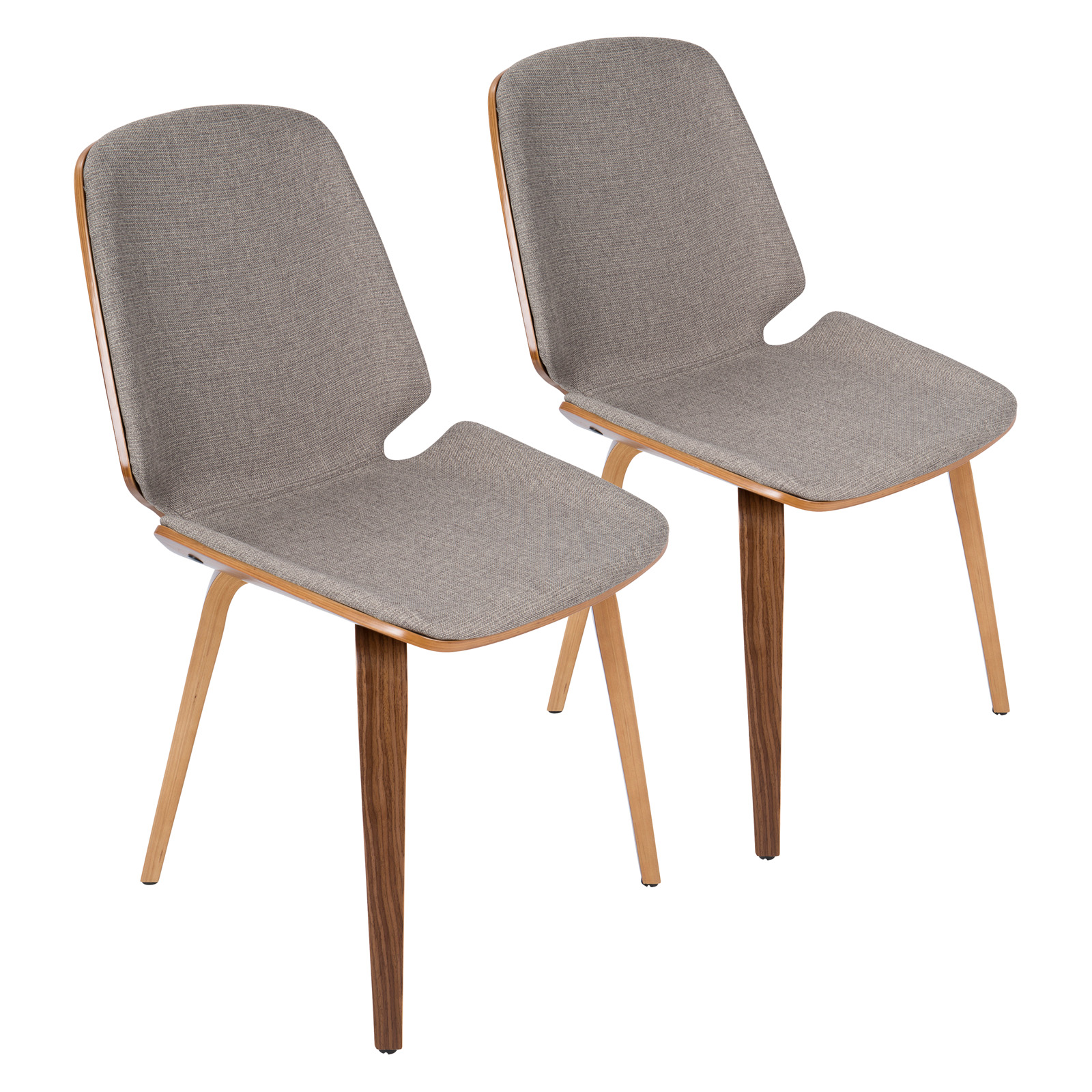 Lumisource Serena Mid Century Modern Dining Chairs   Set Of 2