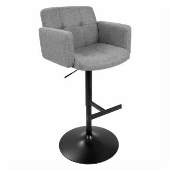 LumiSource Stout Height Adjustable Bar Stool