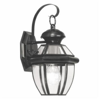 Livex Monterey 2051-04 Outdoor Wall Lantern - 12.5H in. Black