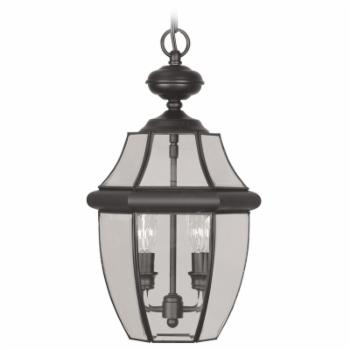 Livex Monterey 2255-04 Outdoor Hanging Lantern - 19H in. Black