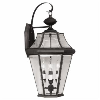 Livex Georgetown 2361-04 Outdoor Wall Lantern - 24H in. Black
