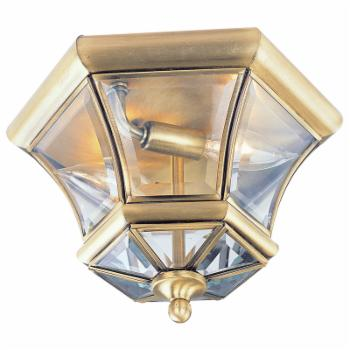 Livex Monterey 7052-01 Outdoor Ceiling Light - 7H in. Antique Brass