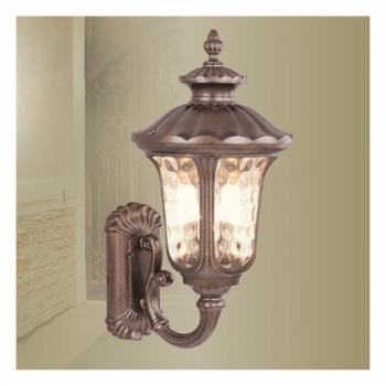 Livex Oxford 7656-50 Outdoor Wall Lantern - 22H in. Moroccan Gold