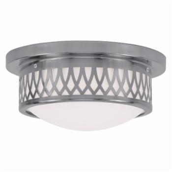 Livex Westfield 7351-91 2-Light Ceiling Mount in Brushed Nickel
