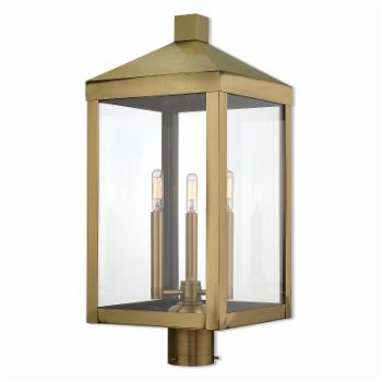 Livex Lighting Nyack 3 Light Outdoor Post Top Lantern