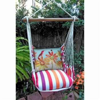 Magnolia Casual Daisy Delight Hammock Chair & Pillow Set