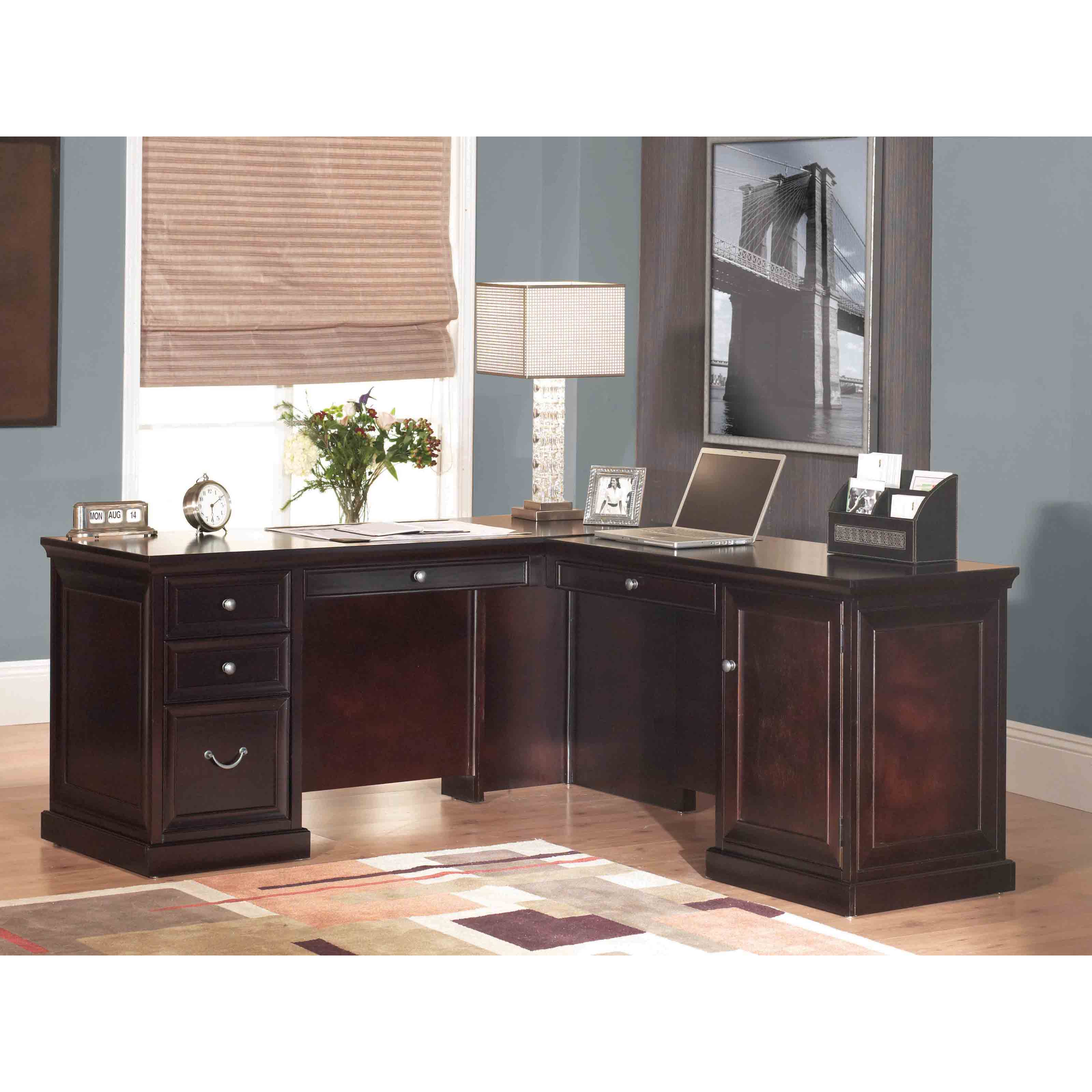 hutch desk amazon a storages office saving shaped furniture dp corner l and in available wooden home with multiple featuring desks space also com table