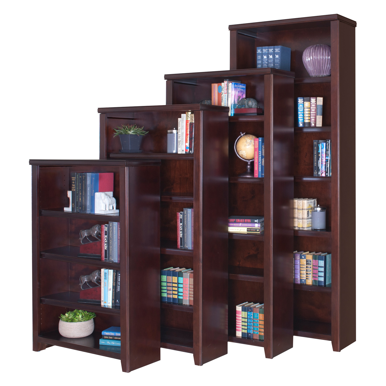 Martin Furniture Tribeca Loft Black Office Collection Bookcase With Three  Adjustable Shelves | Hayneedle