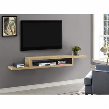 Martin Furniture 72 in. Asymmetrical Wall Mounted TV Shelf