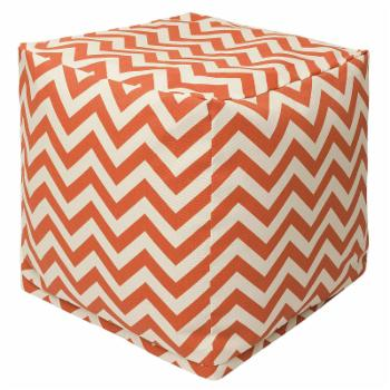 Majestic Home Goods Chevron Indoor / Outdoor Fabric Cube Pouf