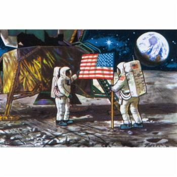 Marmont Hill Moon Landing Painting Print on Wrapped Canvas