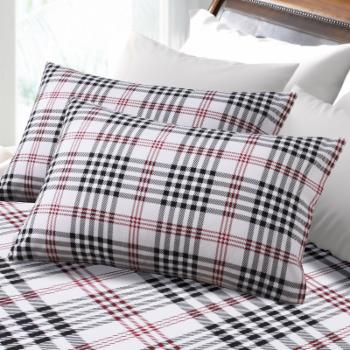 Plaid Printed Deep Pocket Flannel Sheet Set