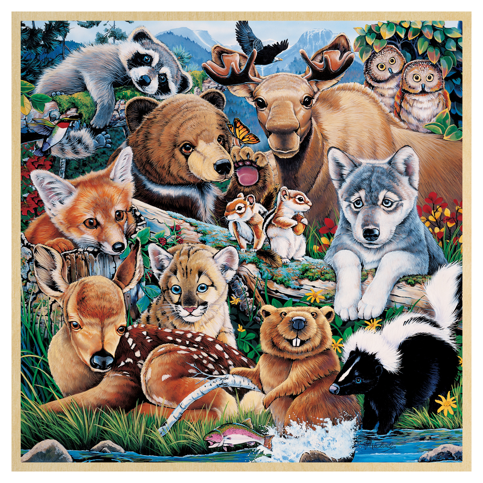 masterpieces wood fun facts forest friends puzzle hayneedle