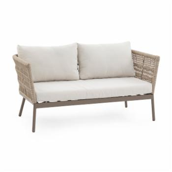 Belham Living Wicklow Rope Weave Outdoor Loveseat