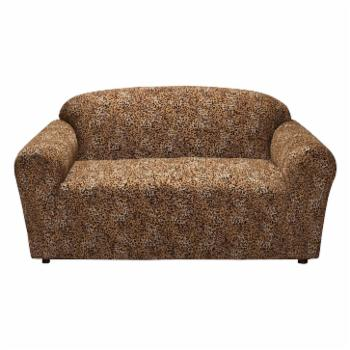 Madison Industries Leopard Jersey Loveseat Cover