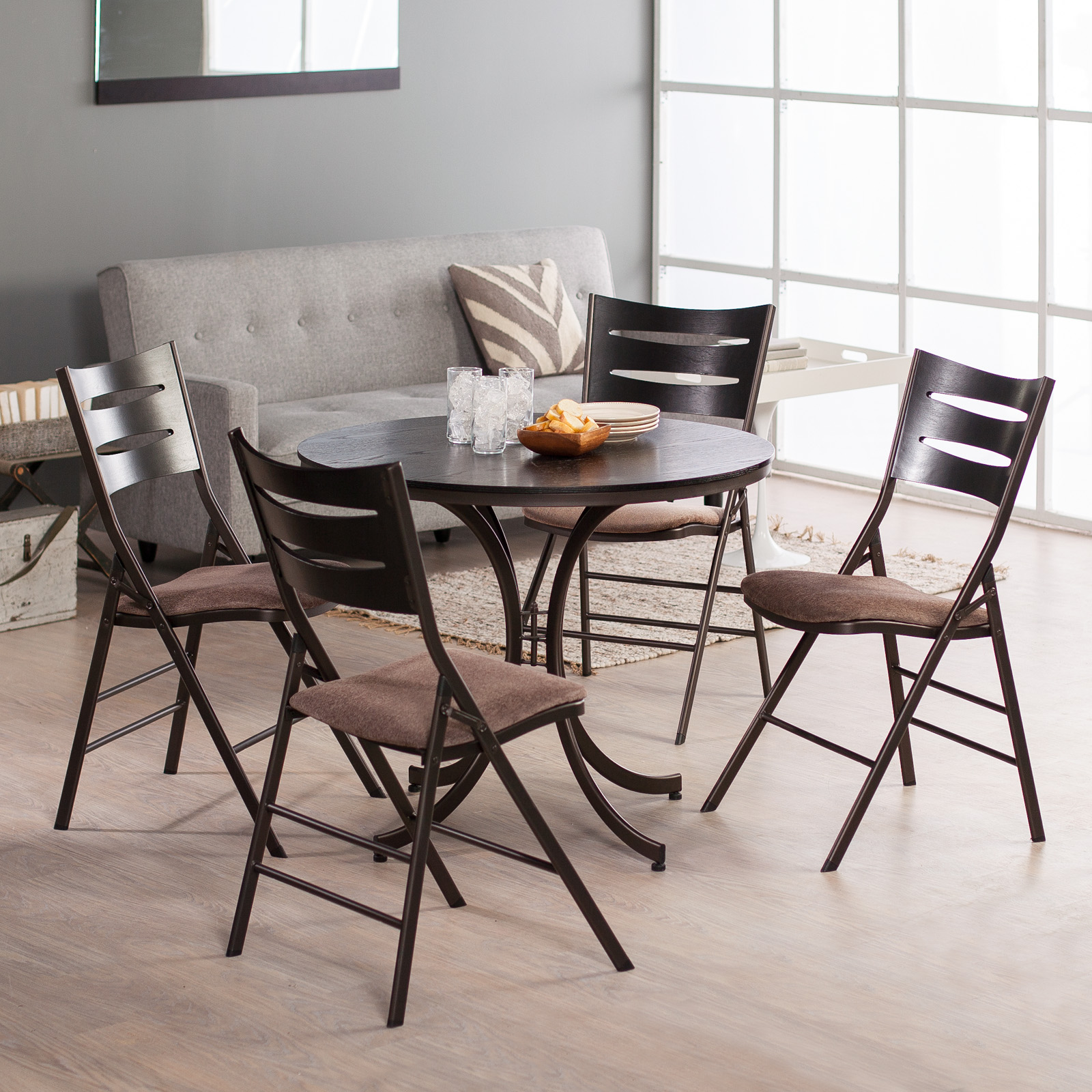 Iron Table And Chairs Set Innobella Destiny Metal Table And Chair Set 5 Pc Set At Hayneedle