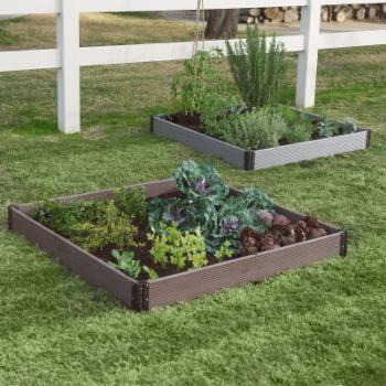 Belham Living Palermo Plastic Composite Wood Raised Garden Bed - 4L x 4W ft.