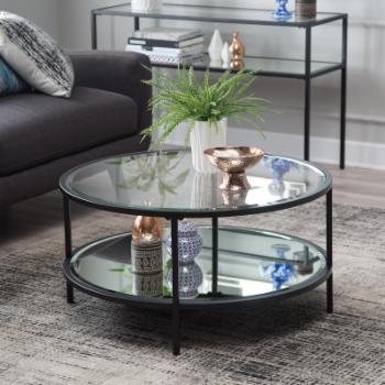 Belham Living Lamont Round Coffee Table - Black