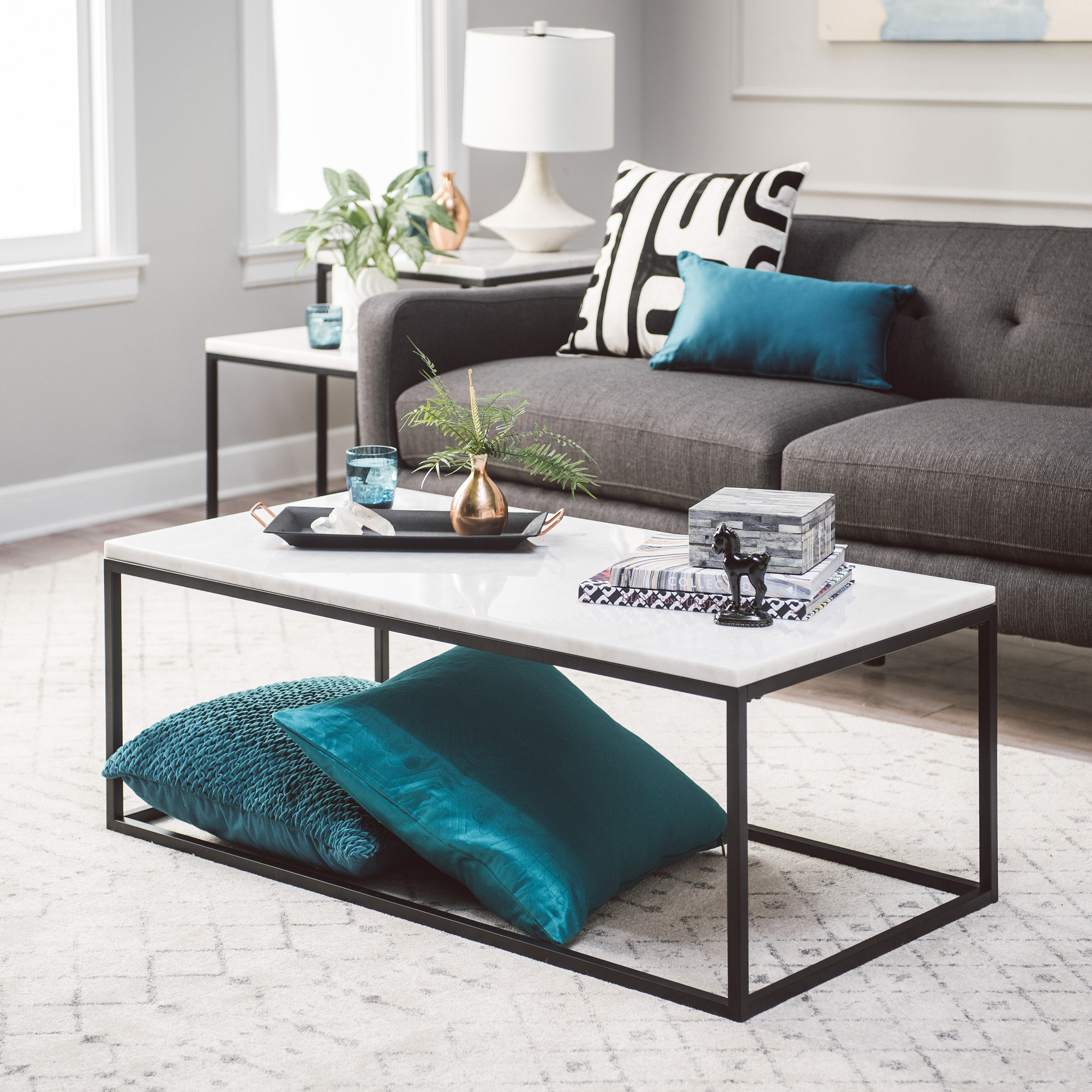 Belham Living Sorenson Coffee Table with Marble Top