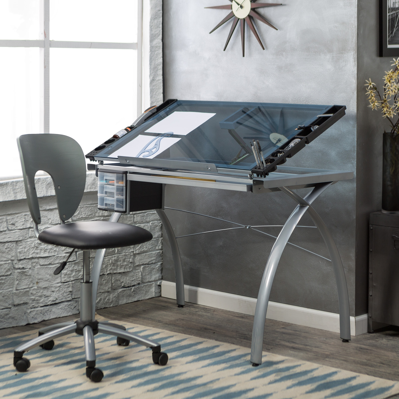 Studio Designs Futura Drafting Table and Chair Set | Hayneedle